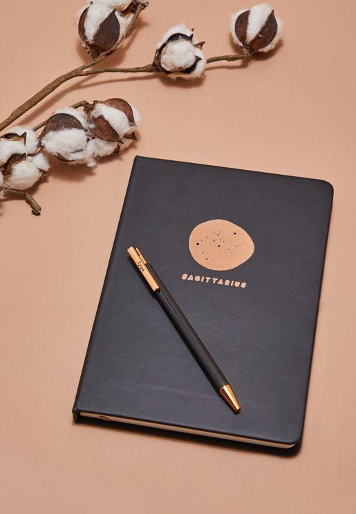 Sagittarius Notebook And Pen Set