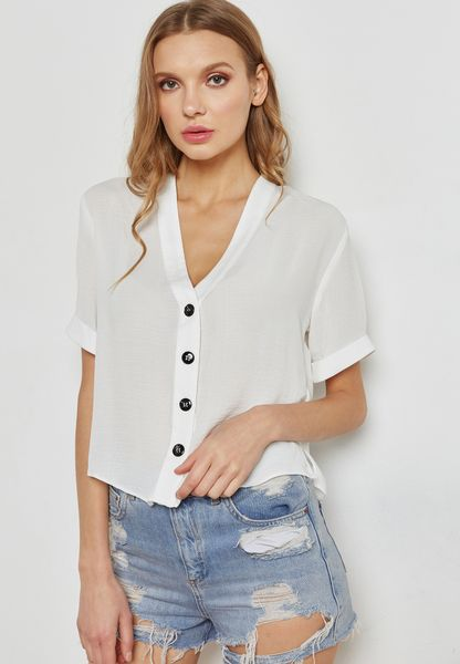 Contrast Button Detail Top