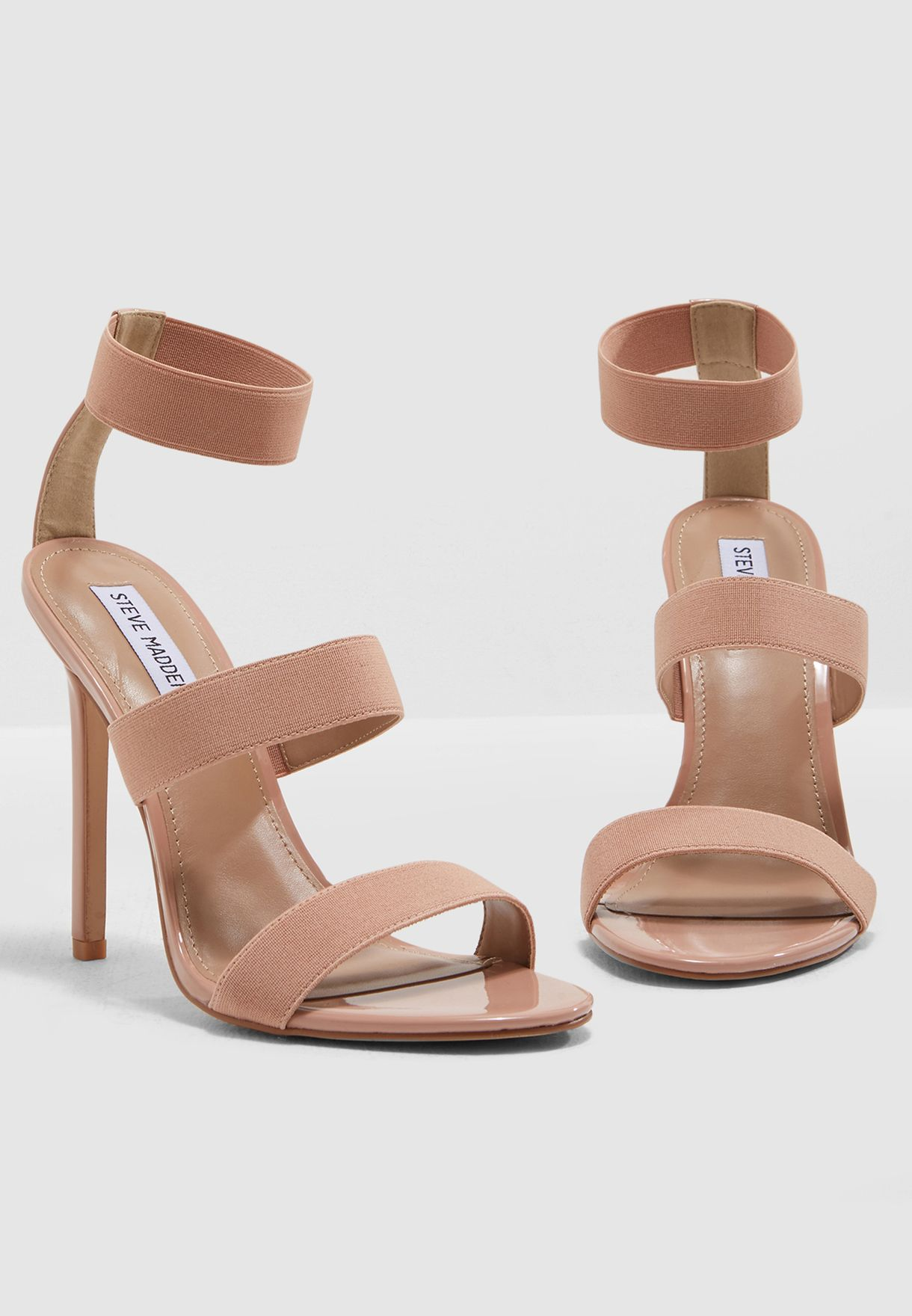 e2db2362c23 Shop Steve Madden beige Crave Heel Sandal CRAVE for Women in UAE ...