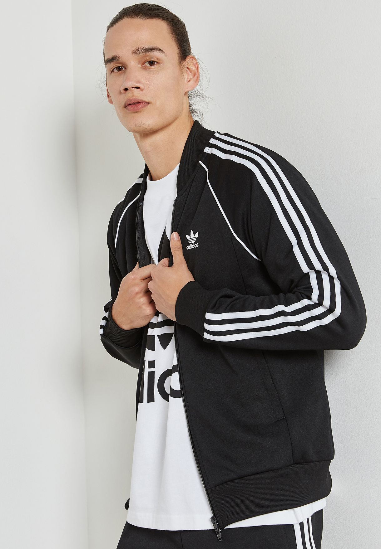 6b745a90d43e Shop adidas Originals black adicolor Superstar Track Jacket CW1256 ...