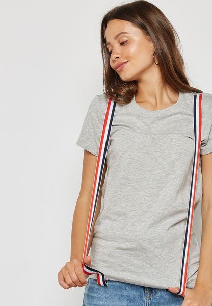 Contrast Paneled T-Shirt