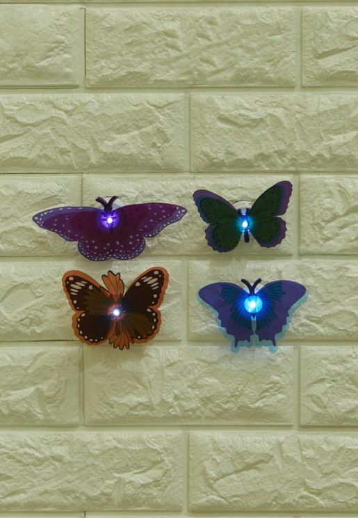4PK Butterfly Wall Art Lights