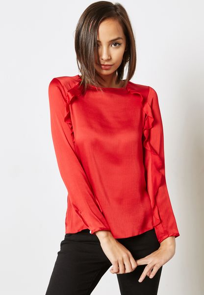 Ruffle Detail Top