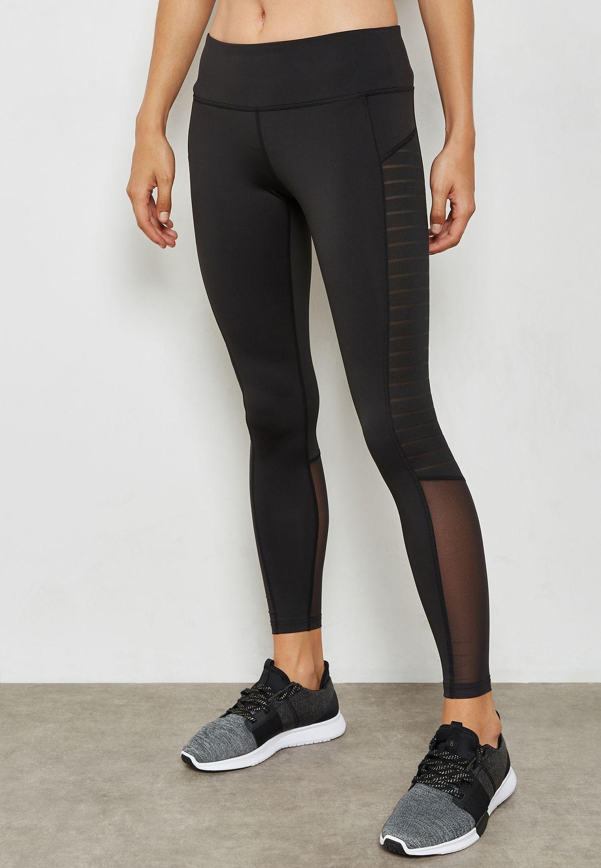 96aedd7f3b436 Shop Reebok black Mesh Leggings CD7676 for Women in UAE - RE019AT32KDJ