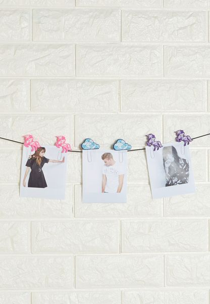 6 Pack Unicorn Hanging Photo / Note Clips