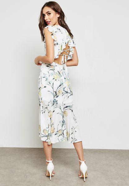 Floral Print Pephem Dress