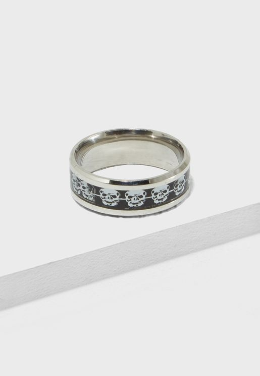 Skull Print Ring