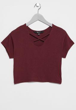 Teen Lattice Loose Mtj T-Shirt