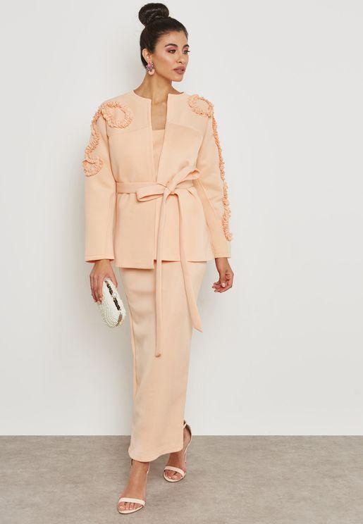 Self Tie Jacket Dress