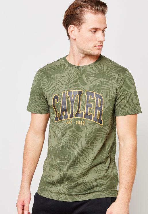 Cayler Palmouflage Crew Neck T-Shirt
