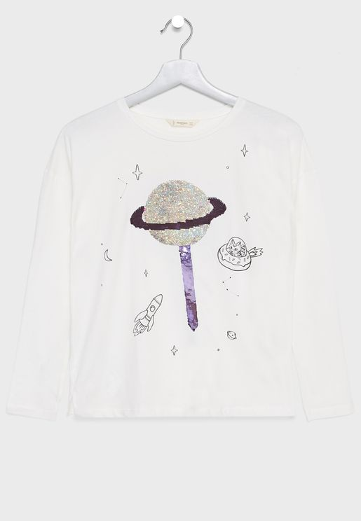 Kids Sequin Detail T-Shirt