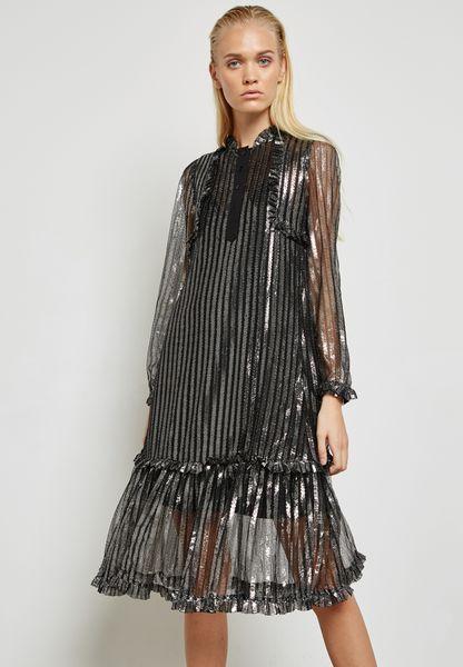 Glitter Sheer Detail Dress