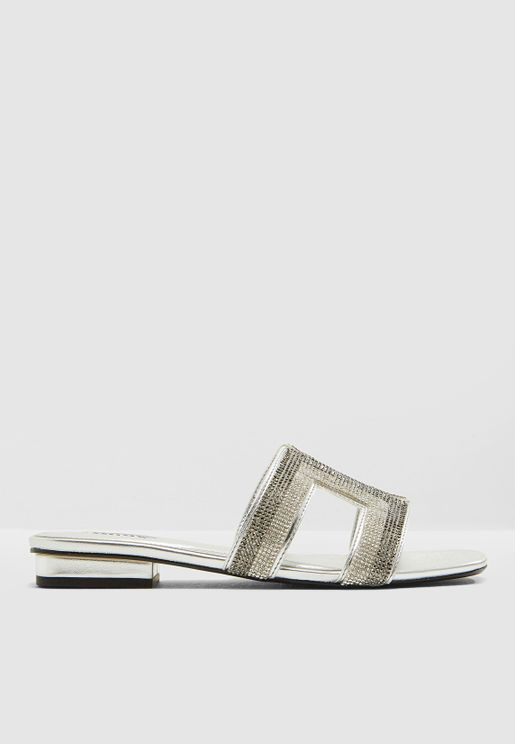 Nadya Diamante Slide Sandals