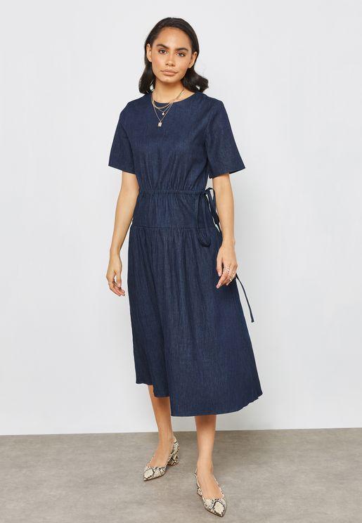 Denim Smock Dress