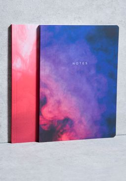 2 Pack Abstract A5 Notebooks