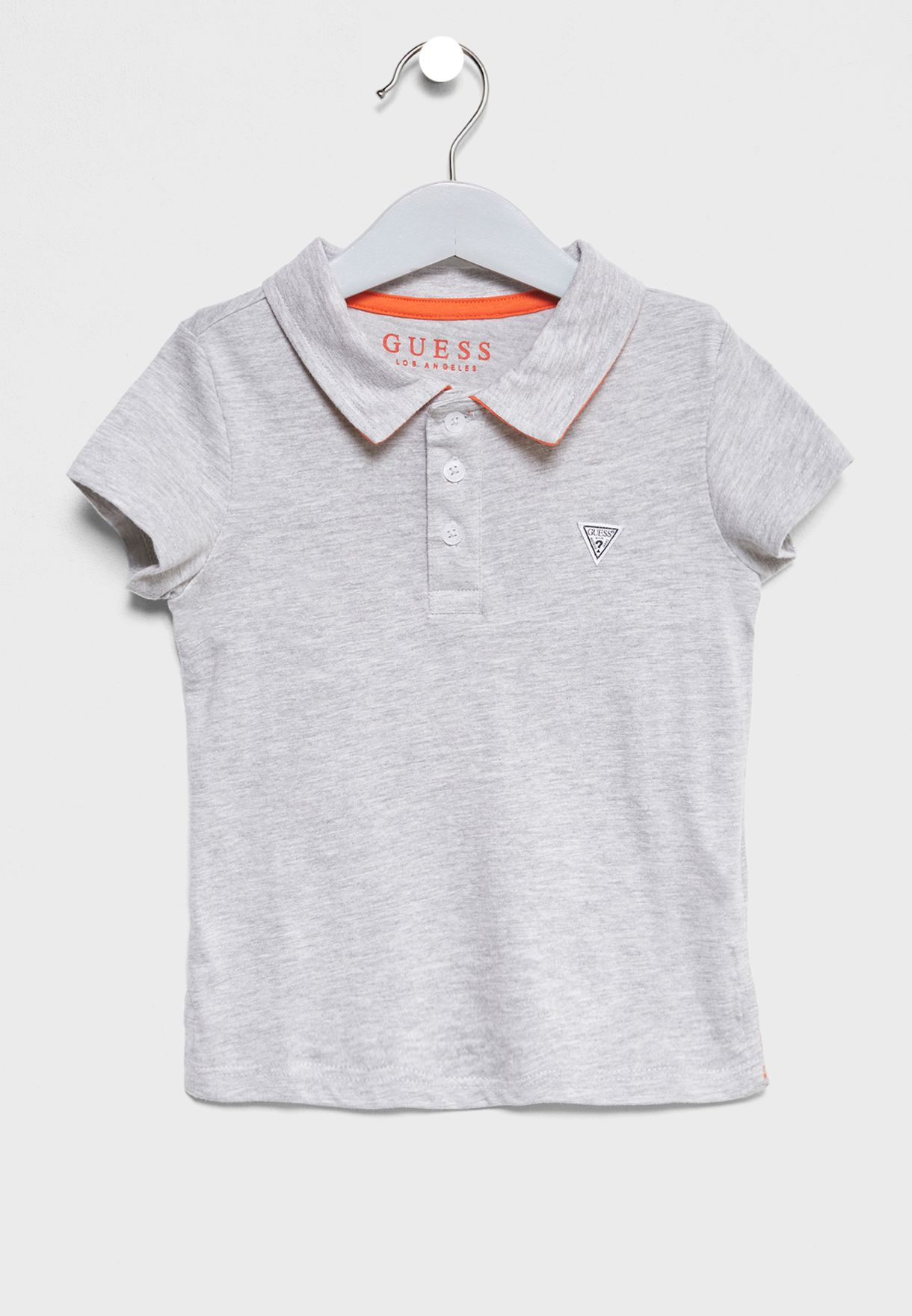 fefcf6b1 Shop Guess grey Little Graphic Polo N82P04K6T30 for Kids in Qatar ...