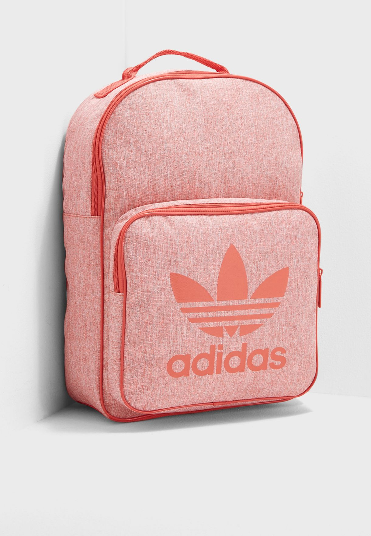 Shop adidas Originals orange Classic Trefoil Backpack CD6057 for ... 596c2bdd40172