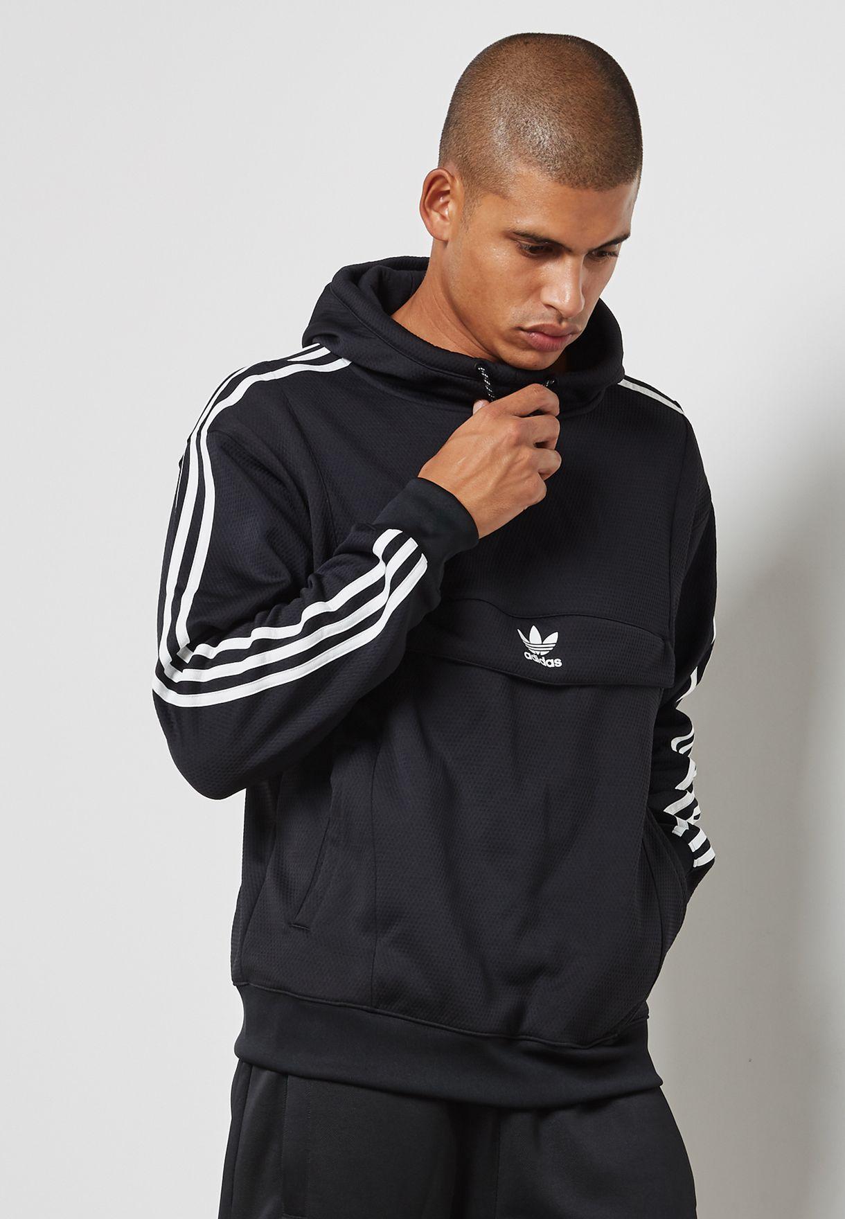 shop adidas originals black anorak hoodie bs4528 for men in saudi