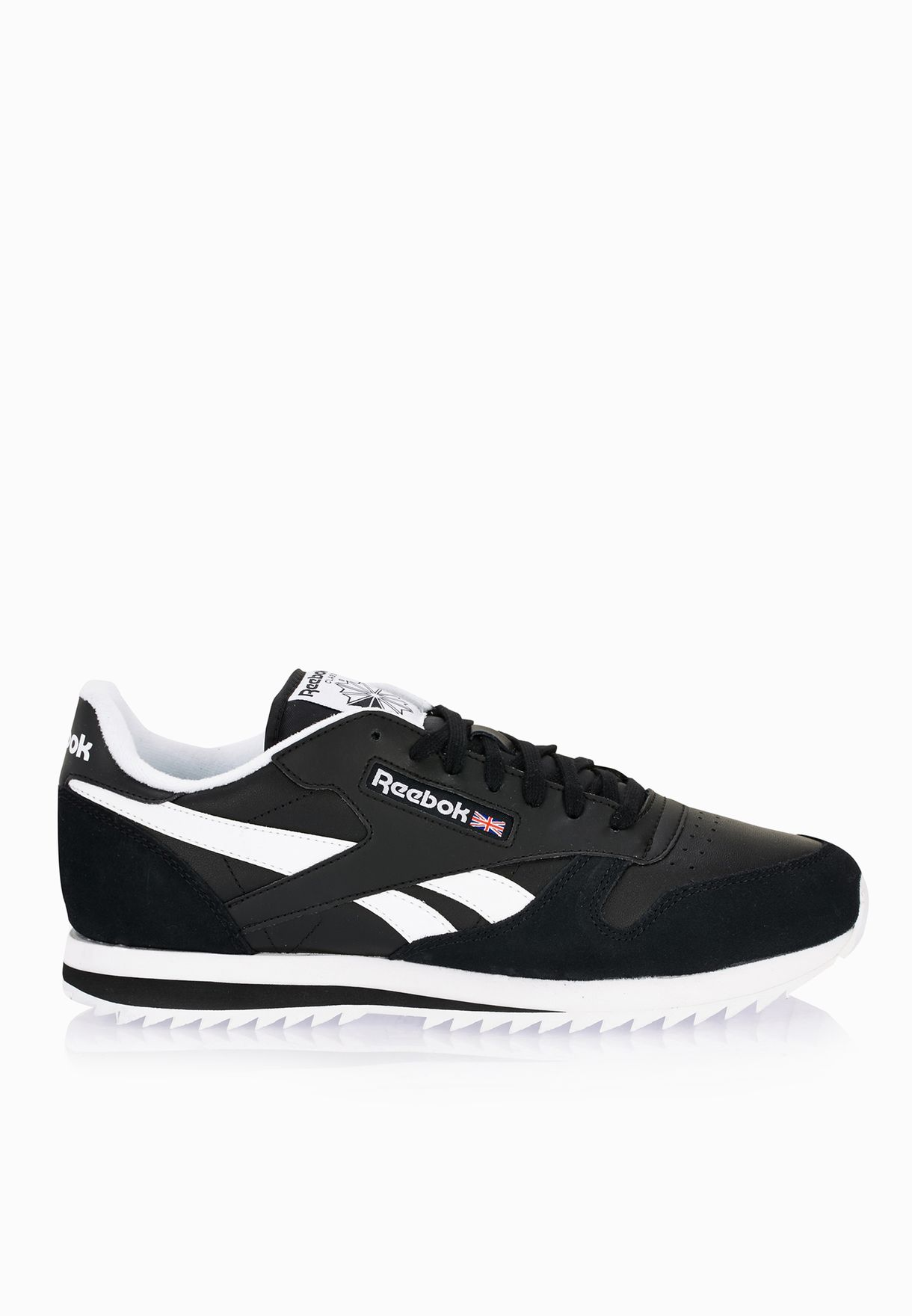 ea6192d74d55b Shop Reebok black Classic Leather Ripple Low BP AR2642 for Men in ...