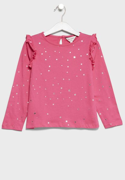Infant Star Print Top