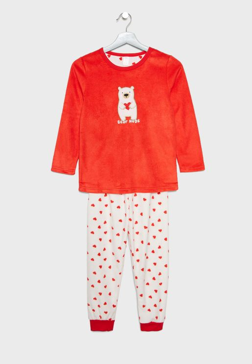 Kids Polar Bear Pyjama Set