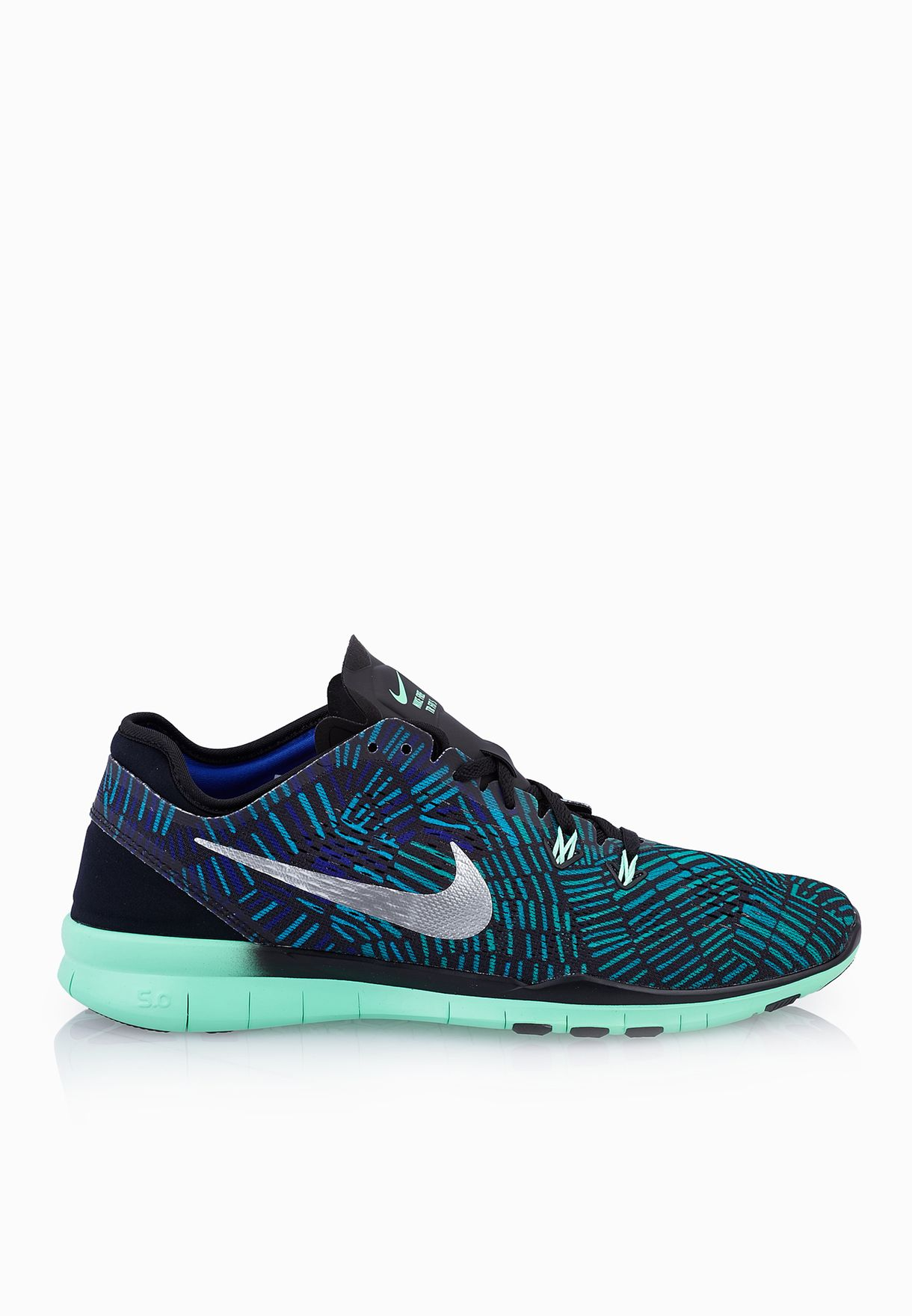 362429f73c2f Shop Nike multicolor Free 5.0 Tr Fit 5 Prt 704695-016 for Women in ...