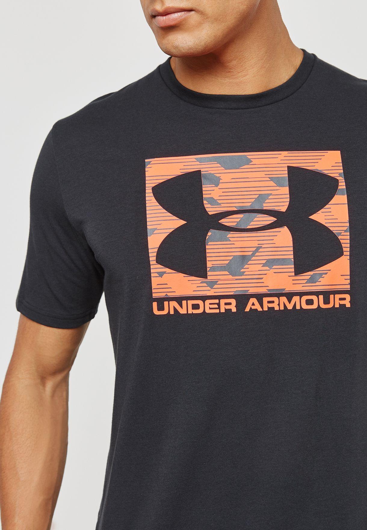 a9109d31 Shop Under Armour black Boxed Sportstyle T-Shirt 1305660-002 for Men ...