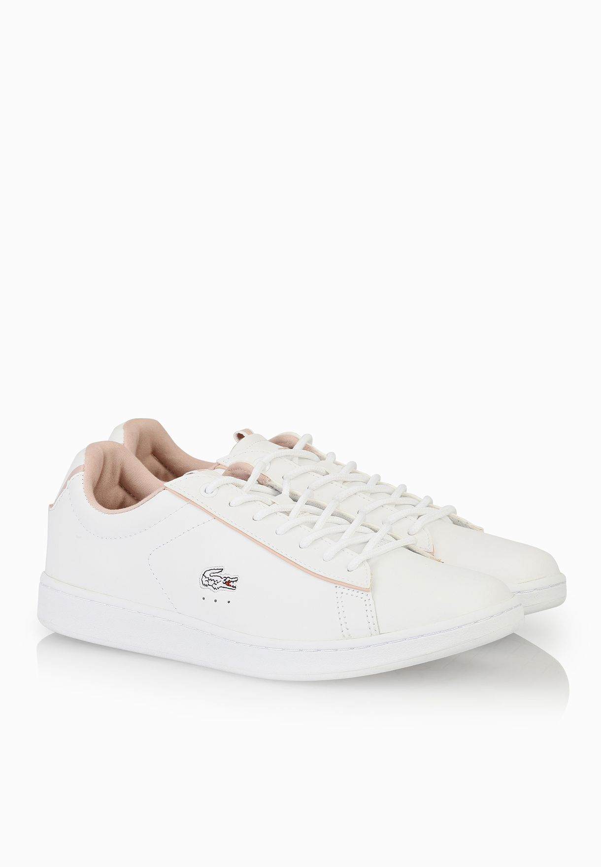 9ae8948e0 Shop Lacoste white Carnaby EVO EDG Sneakers 30SPW0003-21G for Women ...