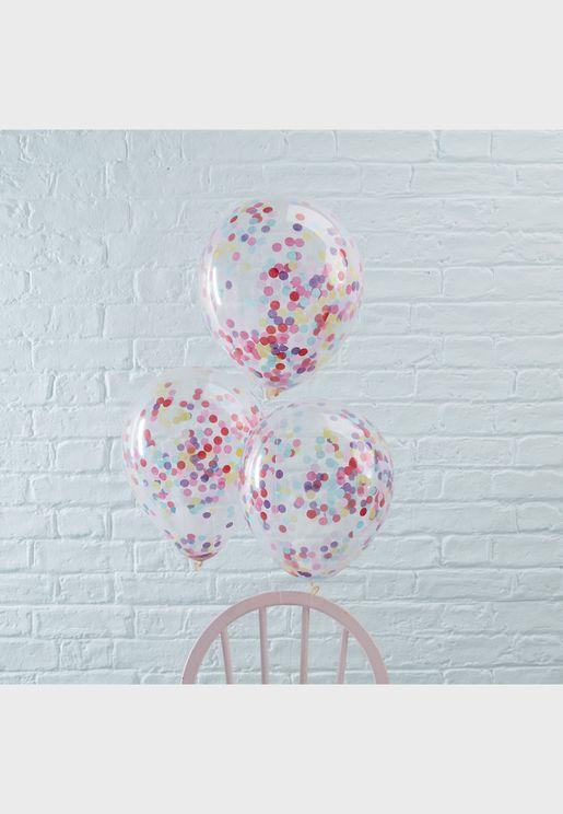 "5 x Confetti Balloons 12"""