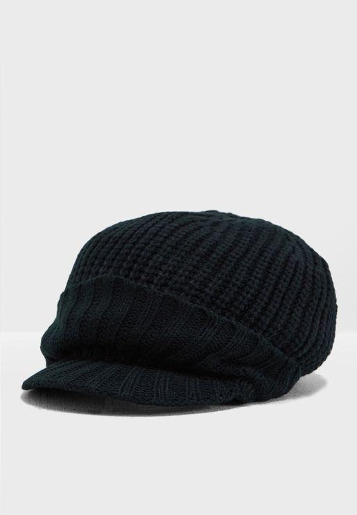 Visor Knitted Beanie