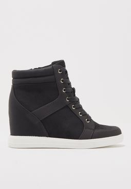 High Lace Up Sneaker Wedge