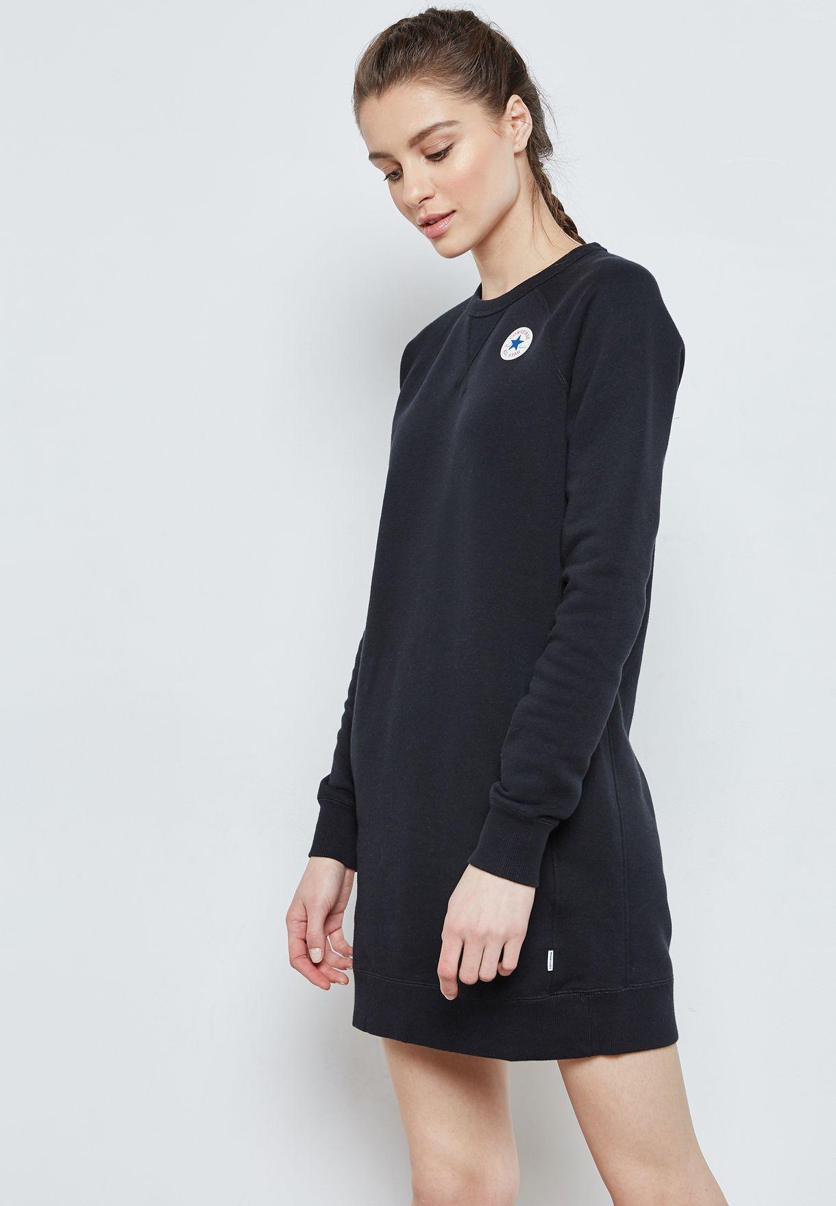 b03b6e5252e2 Shop Converse black Core Sweat Dress 10004545-A01 for Women in UAE ...