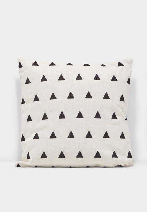 Triangle Print Cushion 45x45cm Insert Included