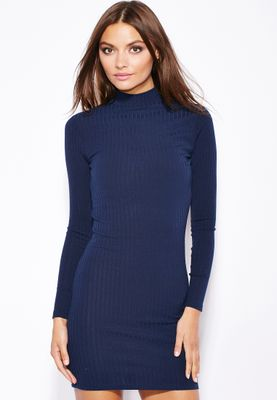 Ginger Ribbed Bodycon Dress