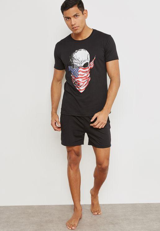 Skull Bandit Nightwear Set