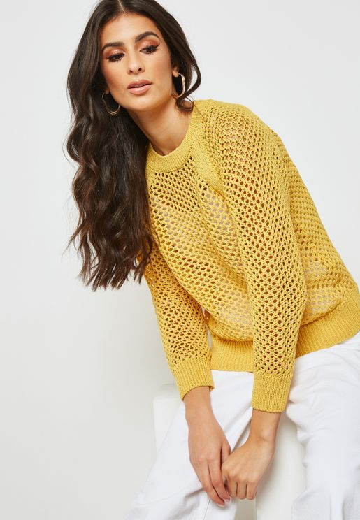 Mesh Knitted Sweater