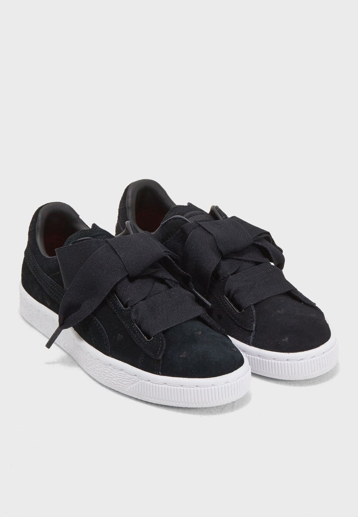 f1e94e30e38 Shop PUMA black Suede Heart Valentine Youth 36513502 for Kids in UAE .