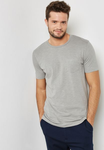 Shop Jack Jones grey Wade T-Shirt 12133861 for Men in Oman - JA334AT32XSH