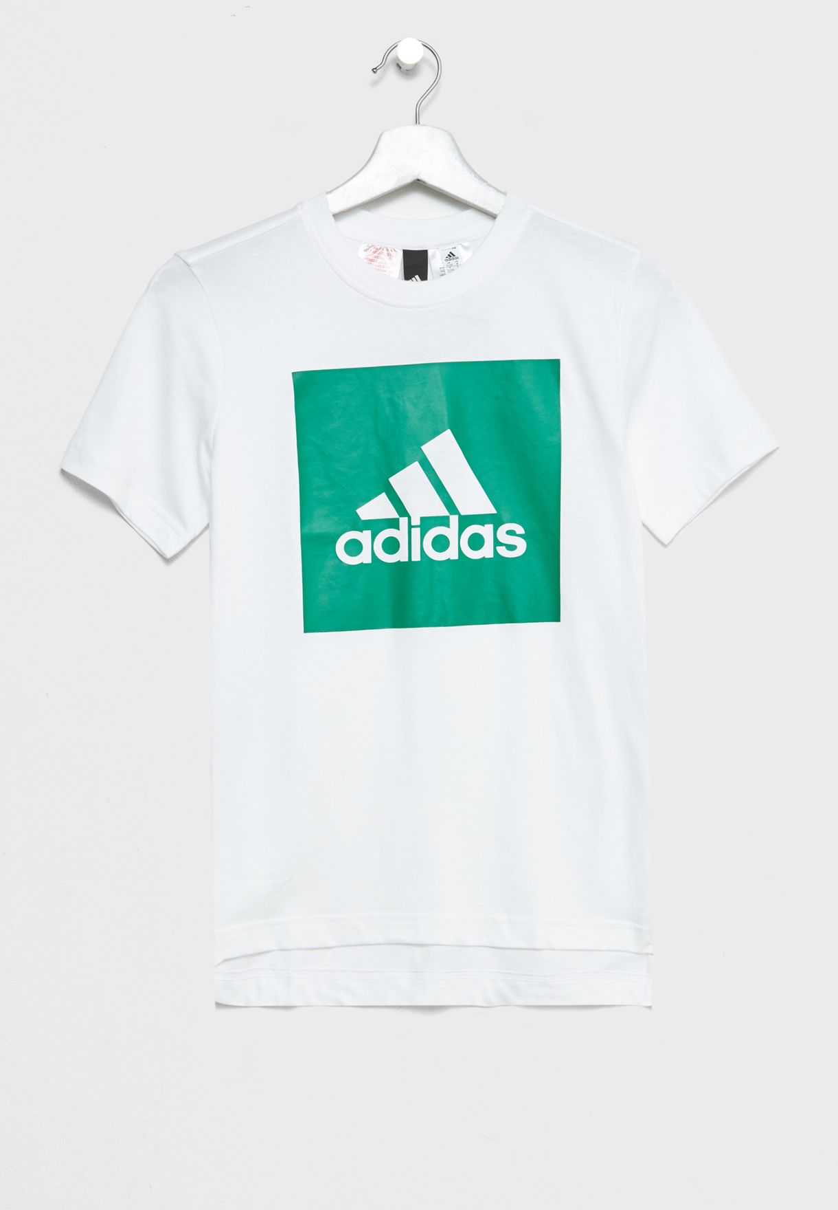 c9e877139ccdbe Shop adidas white Youth Logo T-Shirt CF6518 for Kids in Kuwait ...