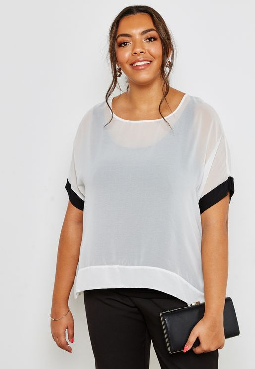 Overlay Colourblock Top
