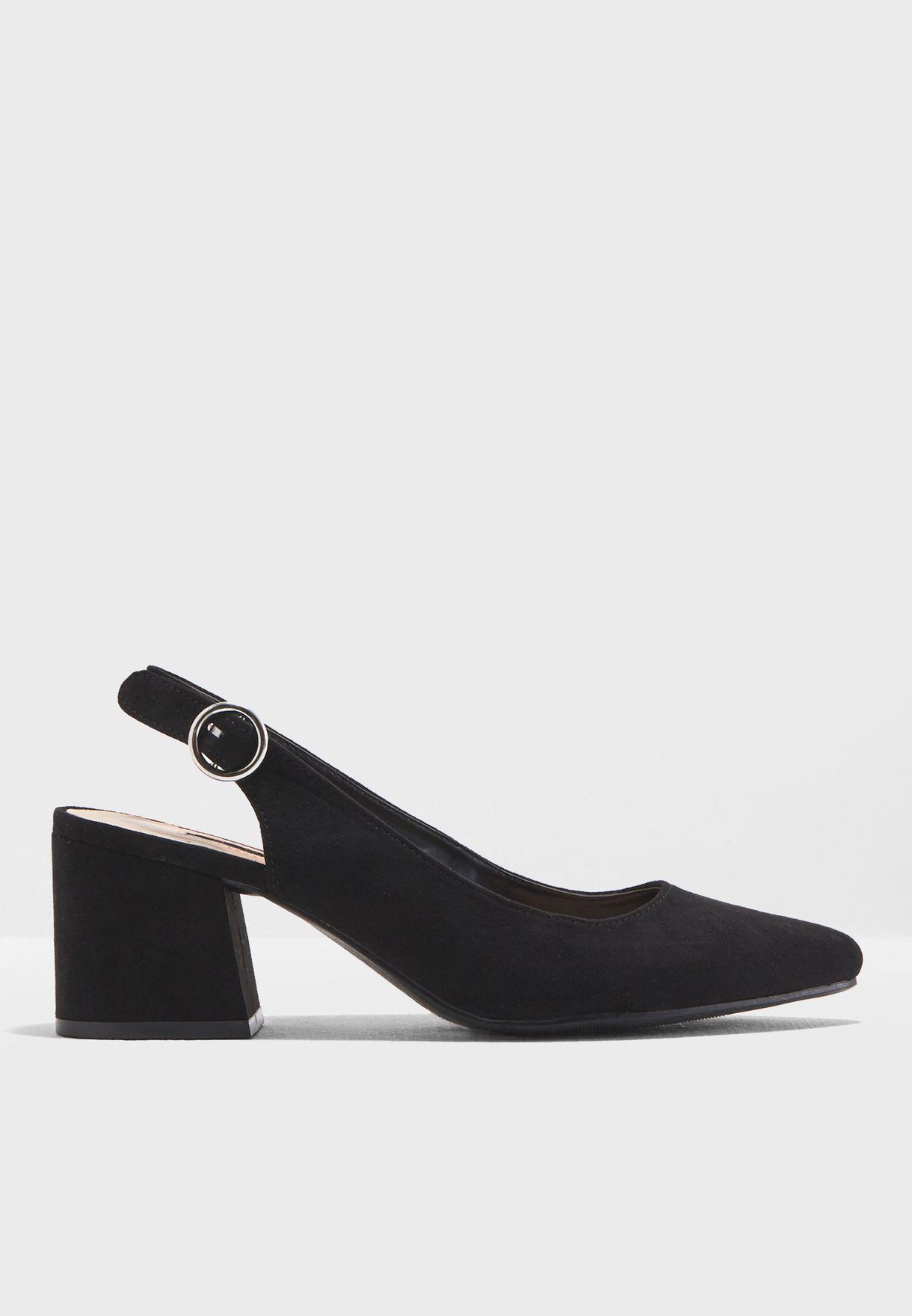 8297965e84e Shop Dorothy Perkins black Eddy Slingback Court Shoes 19183610 for ...
