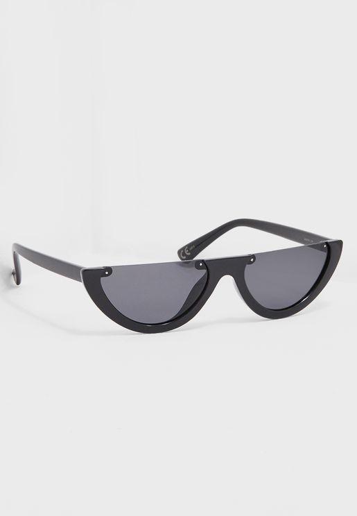 Flora Haif Frame Sunglasses
