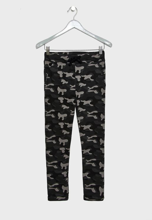 Teen Camo Print Sweatpants