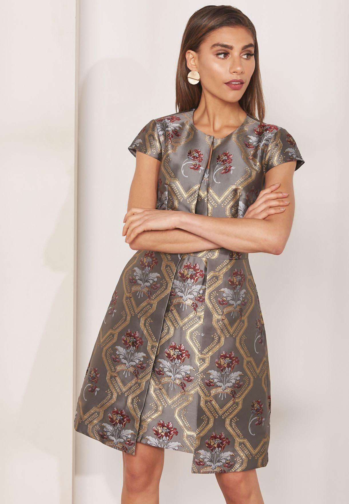 cfd69225cc32 Shop Ted baker prints Kkaty Short Sleeve Skater Dress 150567 for ...