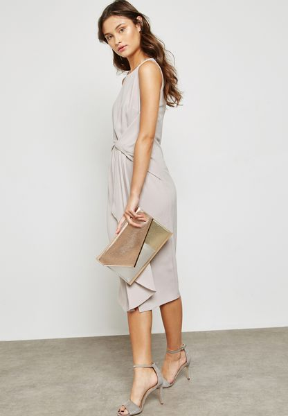 Asymmetric Ruffle Bodycon Dress