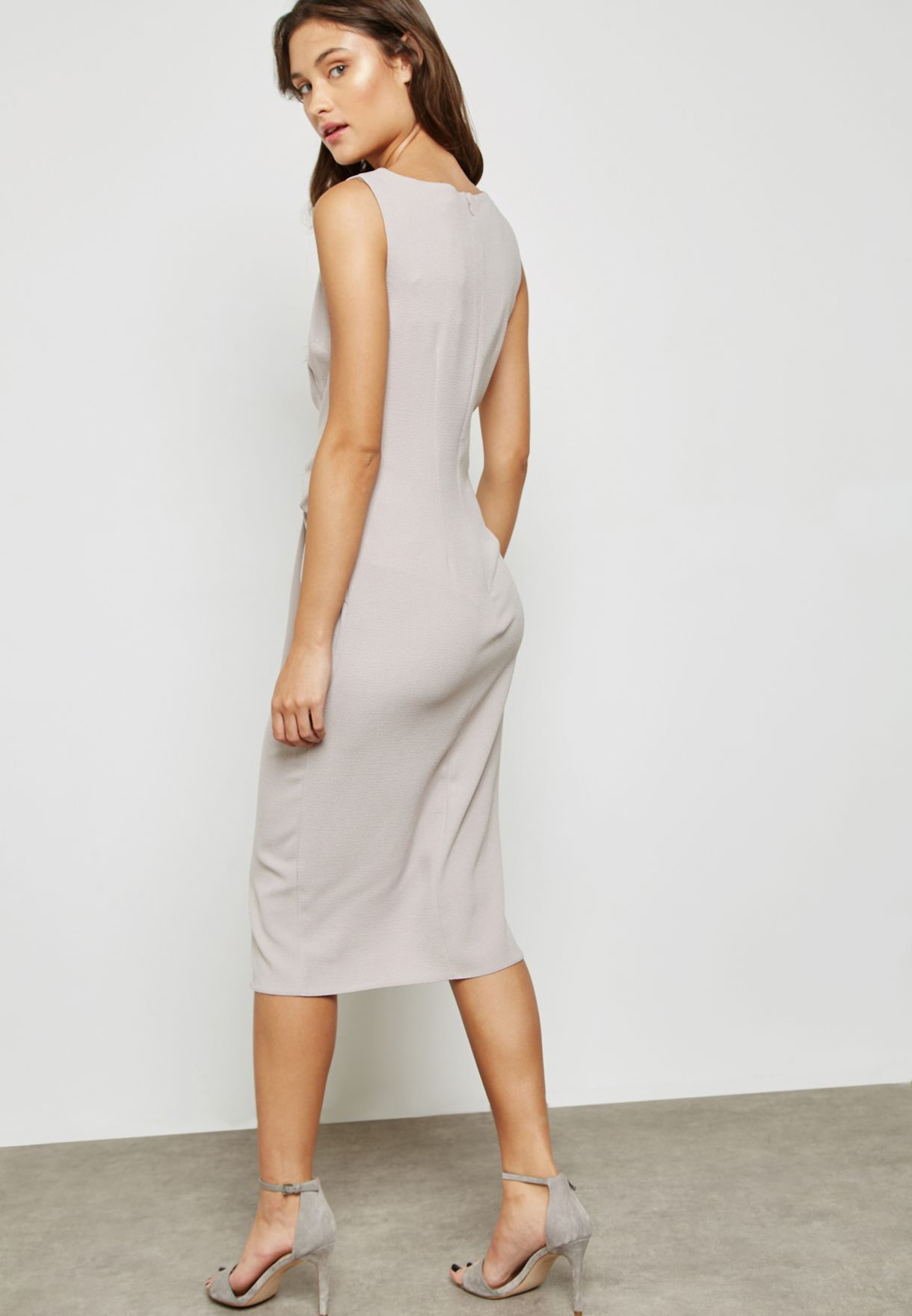 Asymmetric Ruffle Bodycon Dress