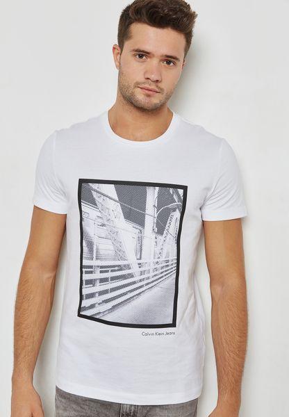 Subway Bridge Print T-Shirt