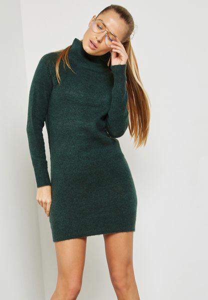 Roll Neck Mini Dress