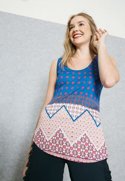 Chevron Print Tank Top