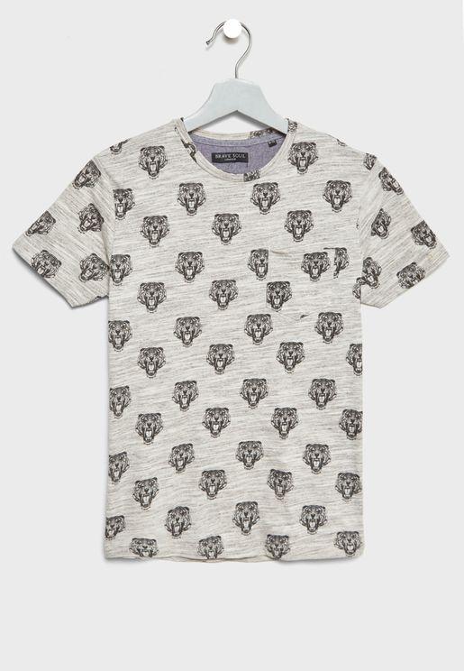 Teen Tiger Print T-Shirt